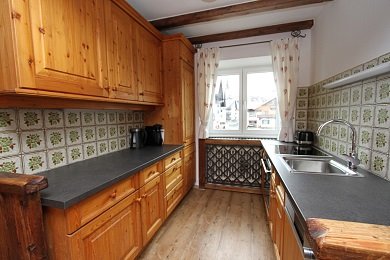 Kitchen with views to the city Holiday apartment 5 Elisabeth apartments