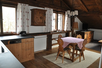 Kitchen with lounge area Holiday apartment 1 Elisabeth apartments Kitzbühel